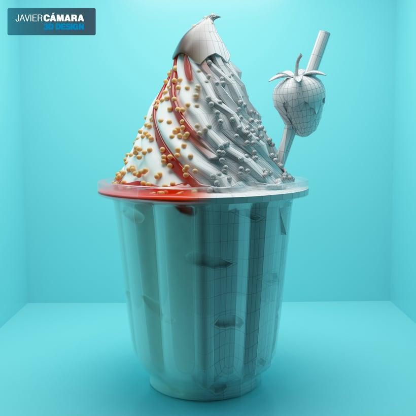 3D Ice Cream modeling 3