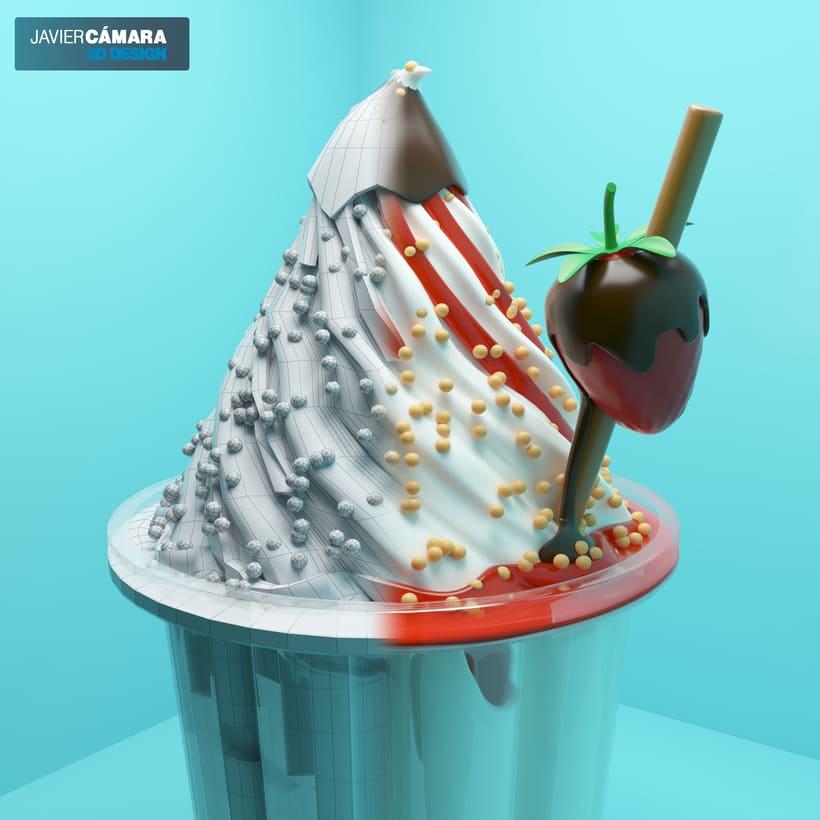 3D Ice Cream modeling 6