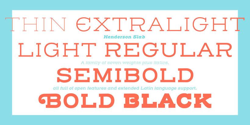 Érase una vez... la tipografía Henderson Slab 11