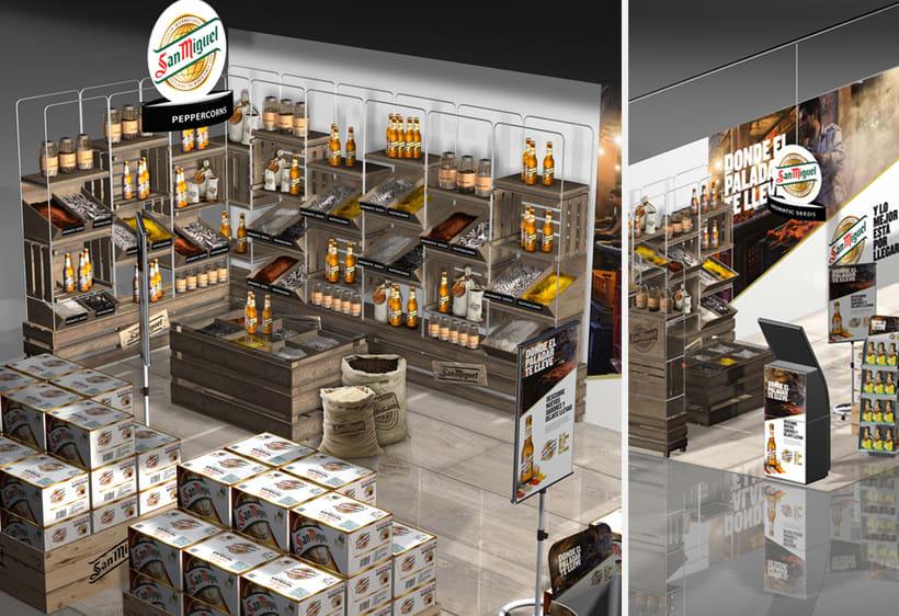 Diseño 3D, (San Miguel, Knorr) - Espacios comerciales | Domestika