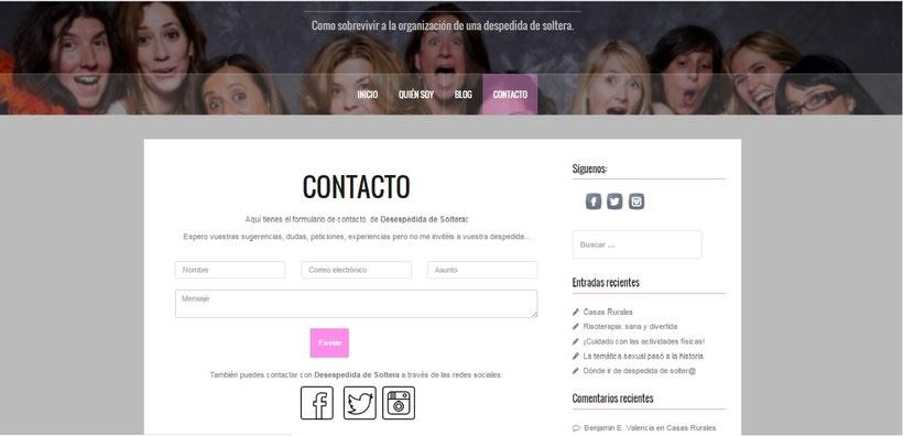 Web Desespedida de Soltera - Wordpress 3