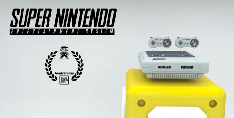 Super Nintendo Promo | Cinema 4D -1