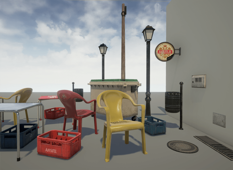 Low poly props 1