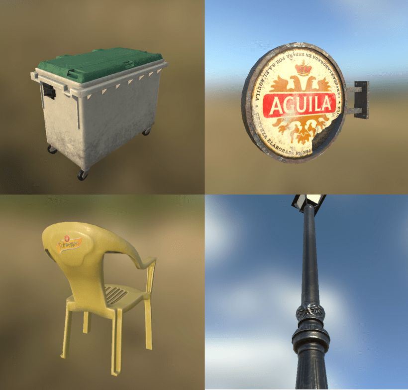 Low poly props 3