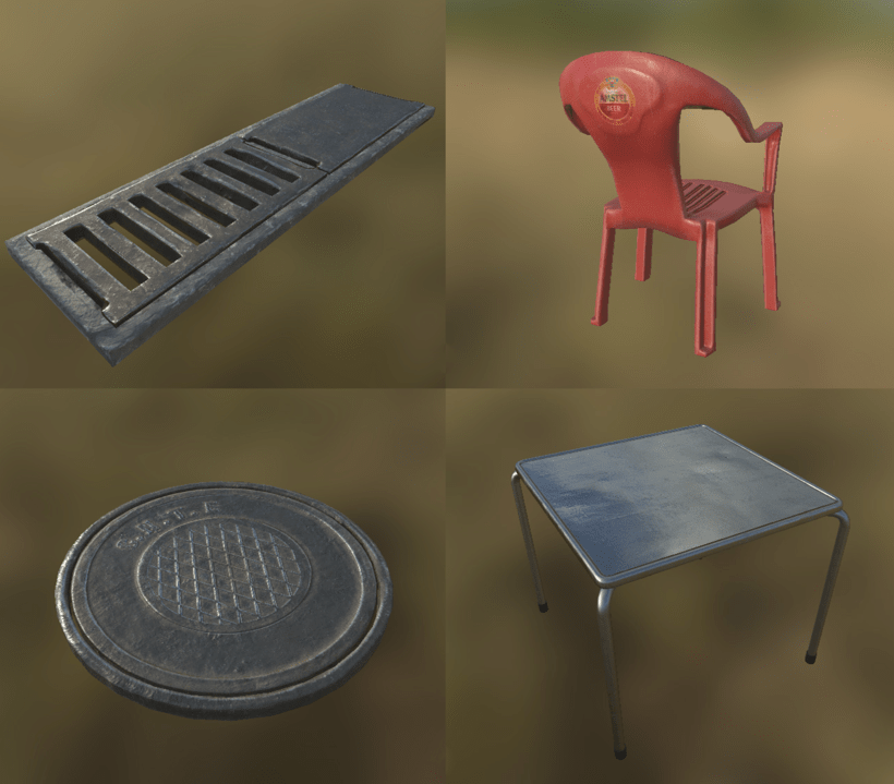 Low poly props 4