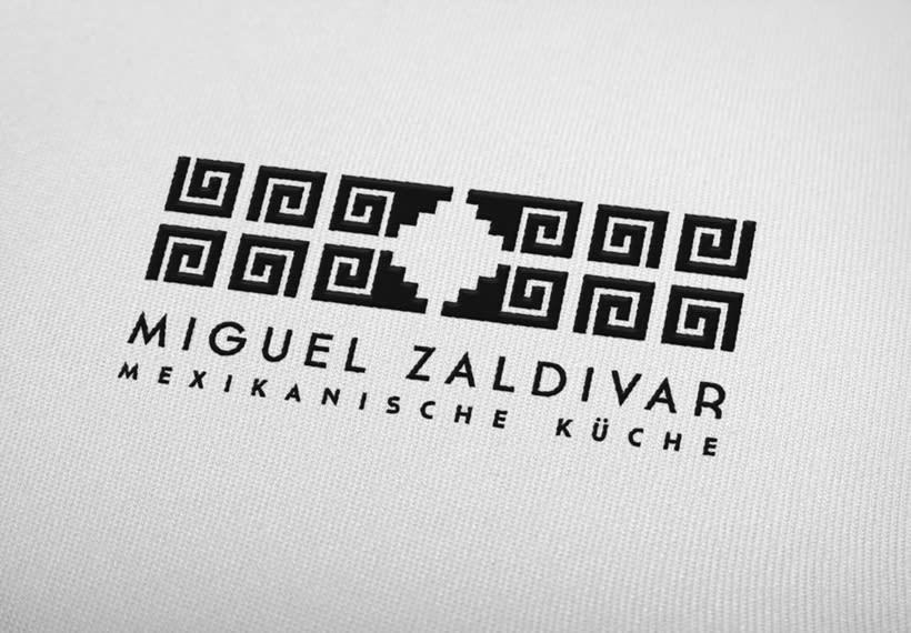 Imagotipo creado para el Chef Miguel Angel Zaldívar, cocinero mexicano. 1