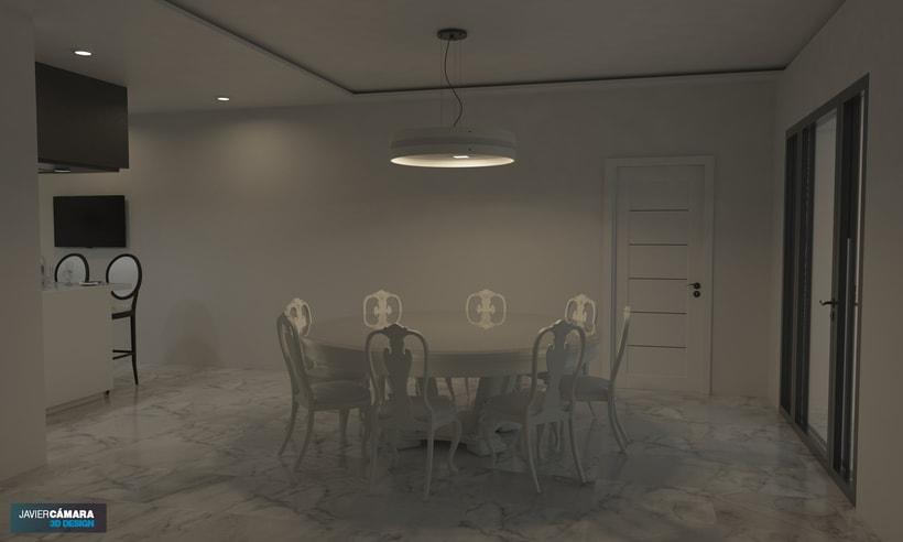 3D American kitchen - Interior Design 3