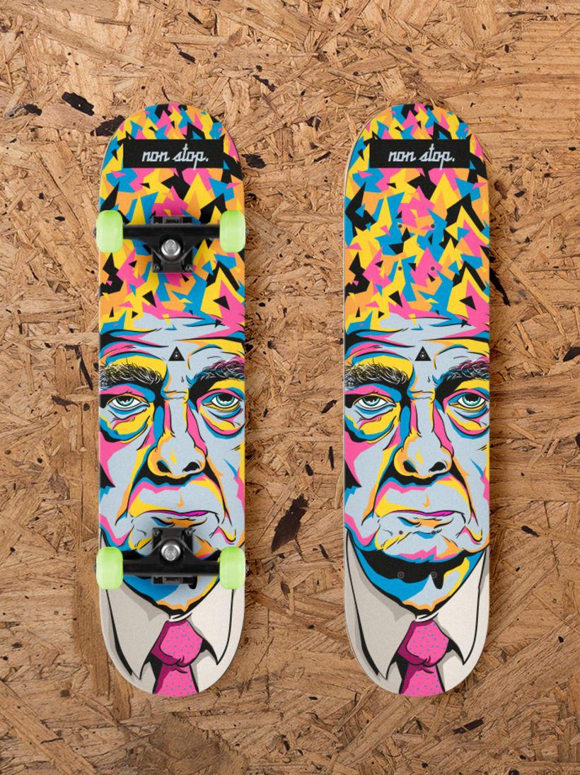 -Non stop- diseño tabla skate/ New project -Non stop- skate design. -1