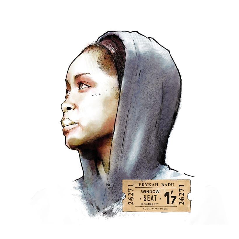 Erykah Badu | Mi Proyecto del curso: Retrato ilustrado con Photoshop 1