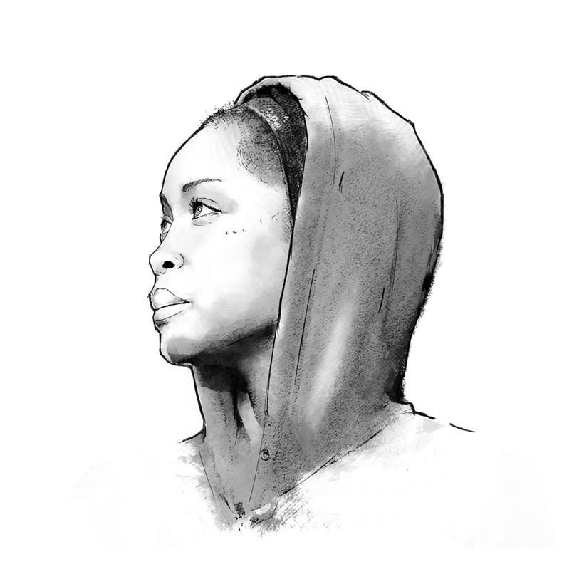 Erykah Badu | Mi Proyecto del curso: Retrato ilustrado con Photoshop 2