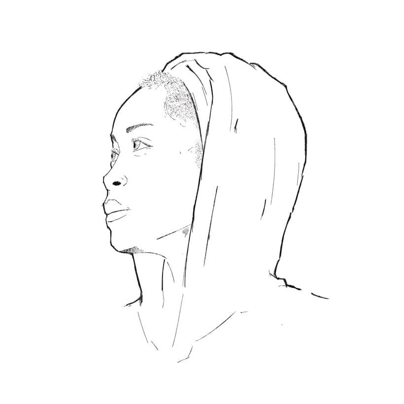 Erykah Badu | Mi Proyecto del curso: Retrato ilustrado con Photoshop 3