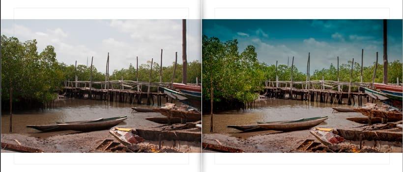 LIBRO.  ANTES y DESPUÉS.    Fotos de Gambia. Curso Revelado LIGHTROOM 0