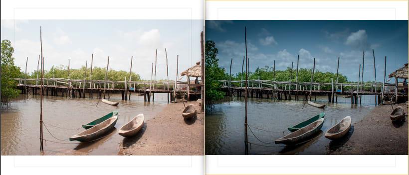 LIBRO.  ANTES y DESPUÉS.    Fotos de Gambia. Curso Revelado LIGHTROOM 1