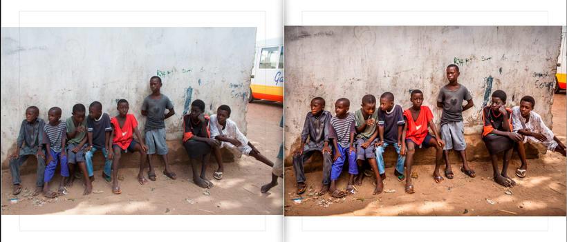 LIBRO.  ANTES y DESPUÉS.    Fotos de Gambia. Curso Revelado LIGHTROOM 4
