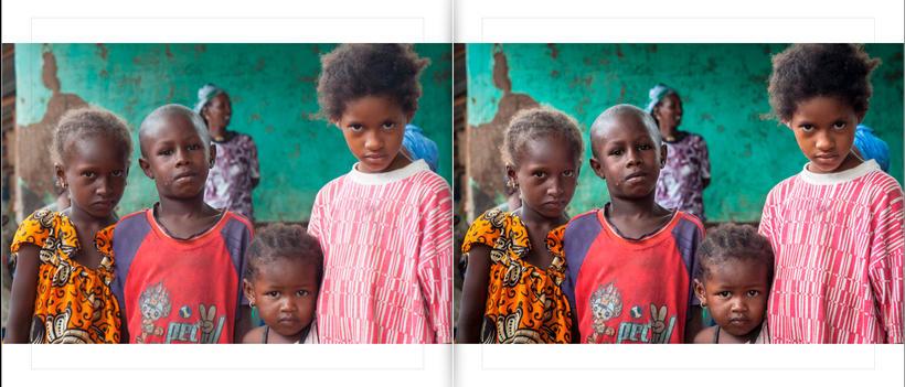 LIBRO.  ANTES y DESPUÉS.    Fotos de Gambia. Curso Revelado LIGHTROOM 6
