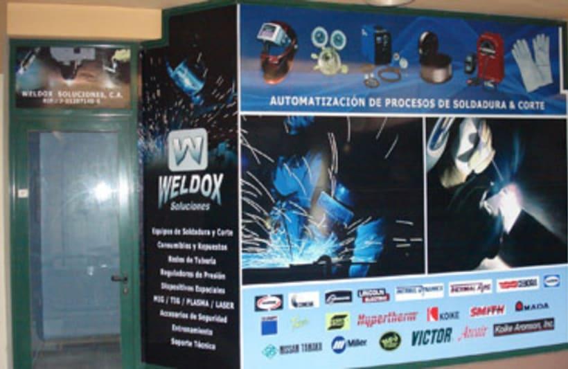Publicidad exterior: Diseño de vinilos para la empresa Weldox -1