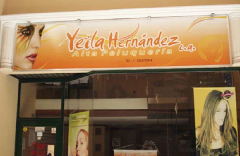 Publicidad exterior: Diseño de aviso Peluqueria Yeila -1