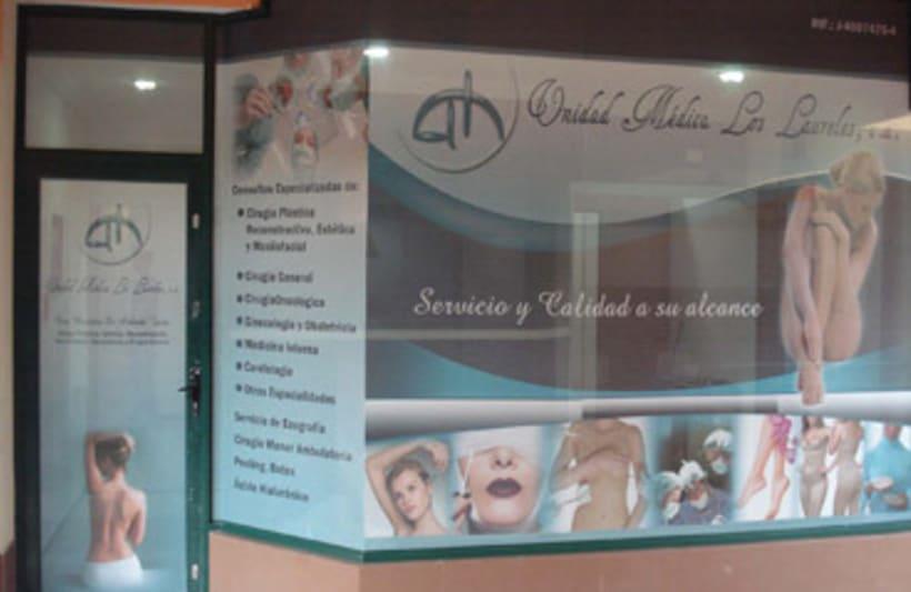 Publicidad exterior: Diseño Microperforado Unidad Médica Los Laureles -1