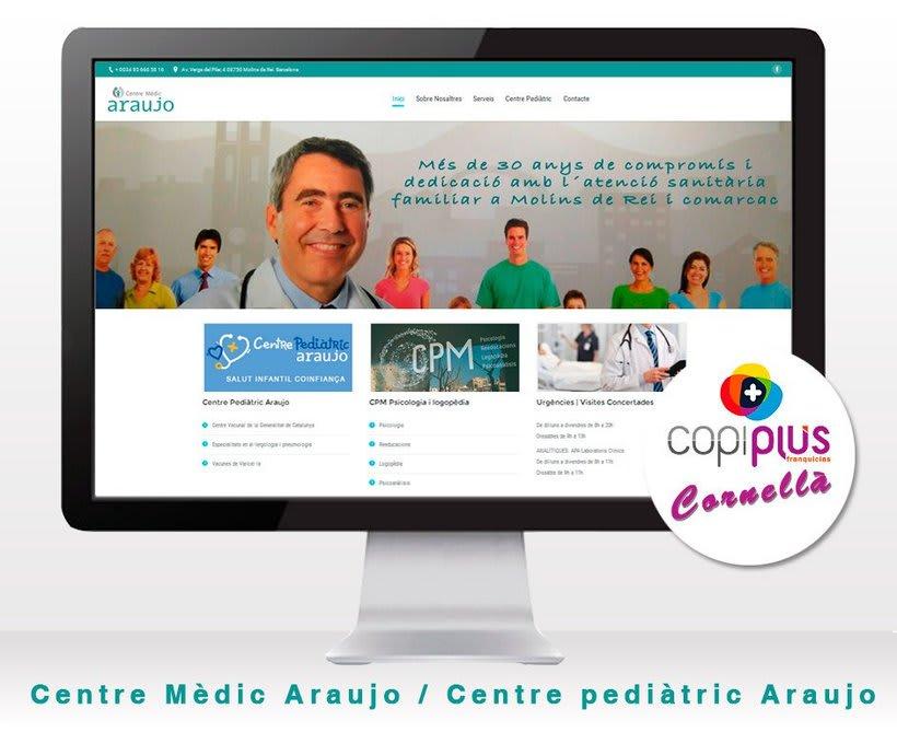Diseño web Centre Mèdic Araujo -1