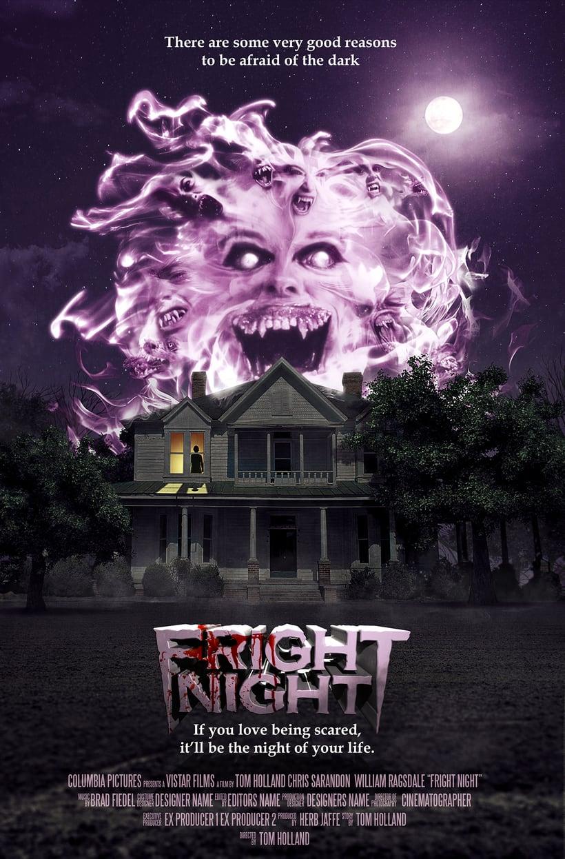 Fright Night (Noche de Miedo) poster revisitado -1