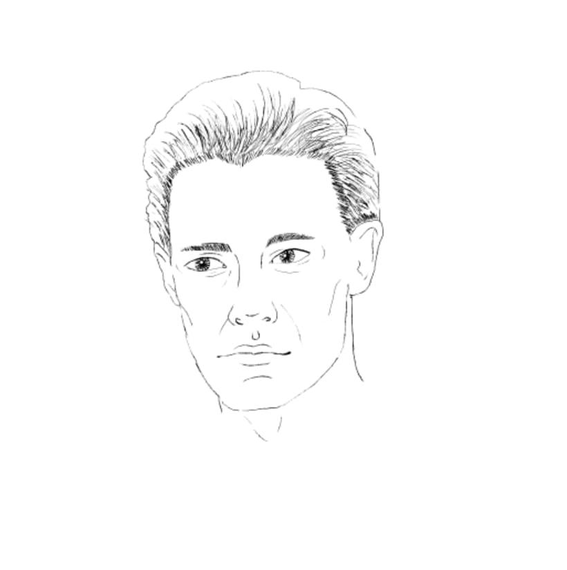 Retrato ilustrado de Kyle MacLachlan 5