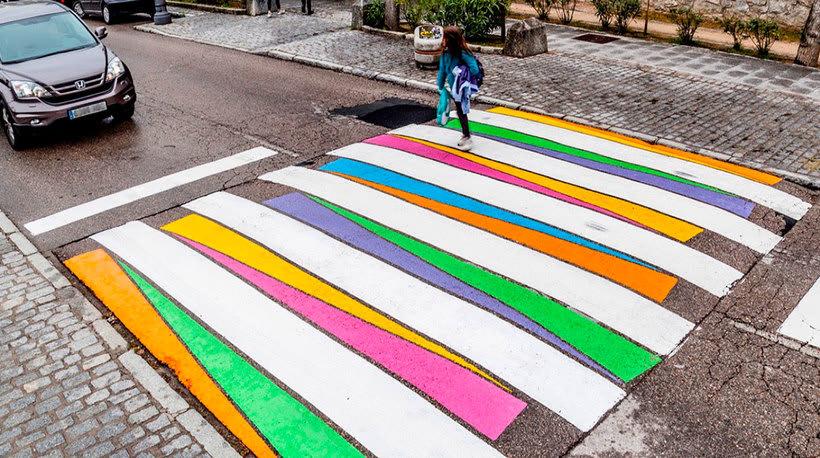 Christo Guelov llena de color los pasos de cebra de Madrid 2
