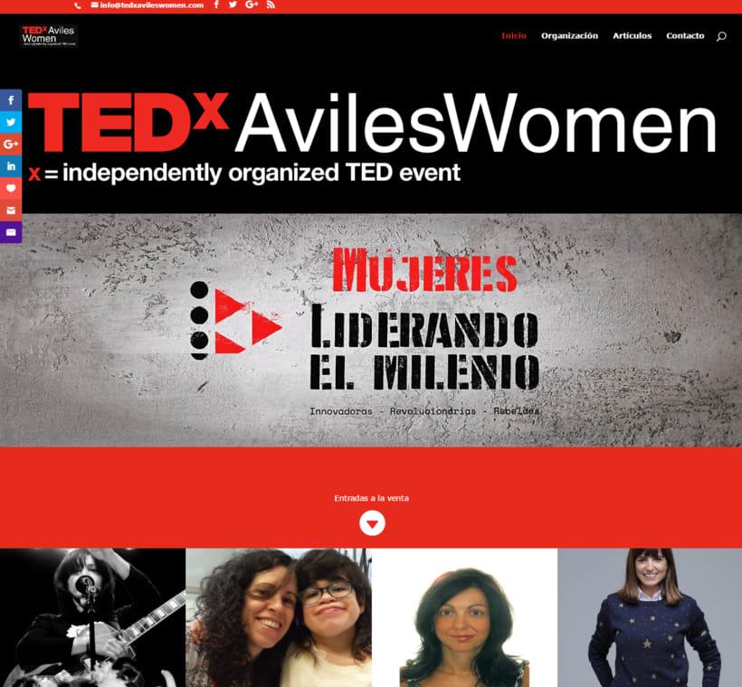 TEDxAvilesWomen, coorganización del evento, desarrollo web y social media. -1