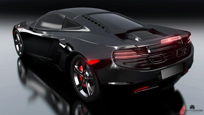 3D Car McLaren MP4  -1