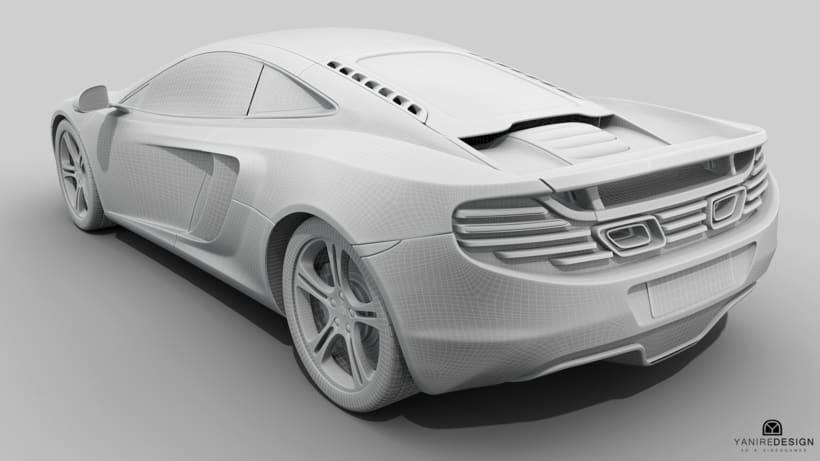 3D Car McLaren MP4  0