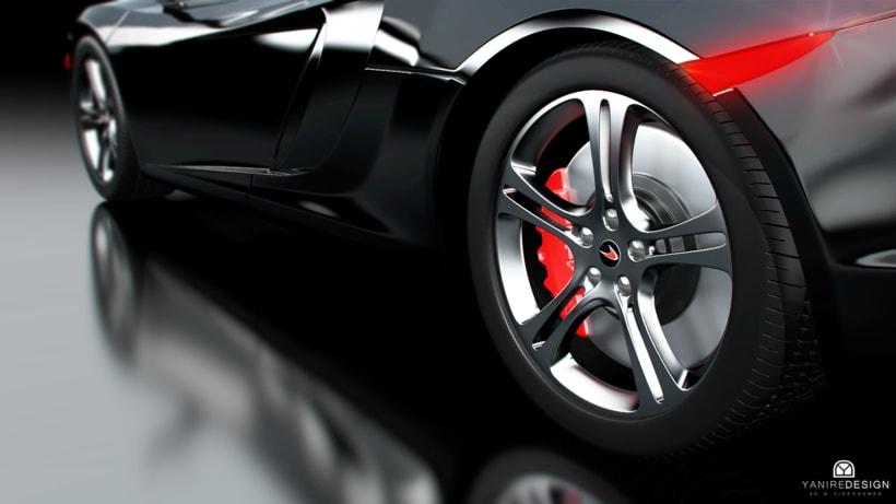 3D Car McLaren MP4  1