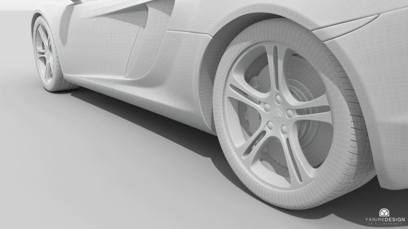 3D Car McLaren MP4  2