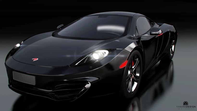 3D Car McLaren MP4  3