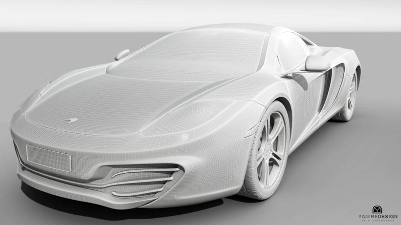 3D Car McLaren MP4  4
