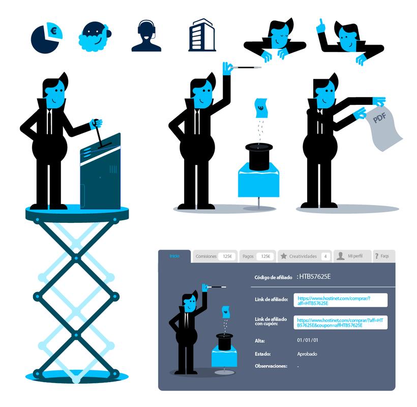 Hostinet.com ( Diseño UX y elementos gráficos) 1