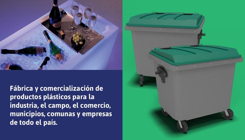 Rediseño de imagen para FVM una empresa dedicada a la fabricación y comercialización de productos plásticos para la industria, el campo, el comercio, municipios, comunas y empresas. 3