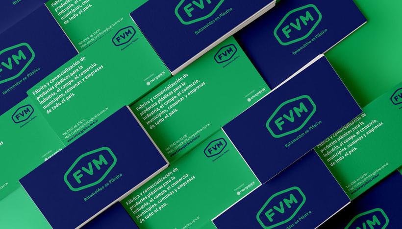Rediseño de imagen para FVM una empresa dedicada a la fabricación y comercialización de productos plásticos para la industria, el campo, el comercio, municipios, comunas y empresas. 4
