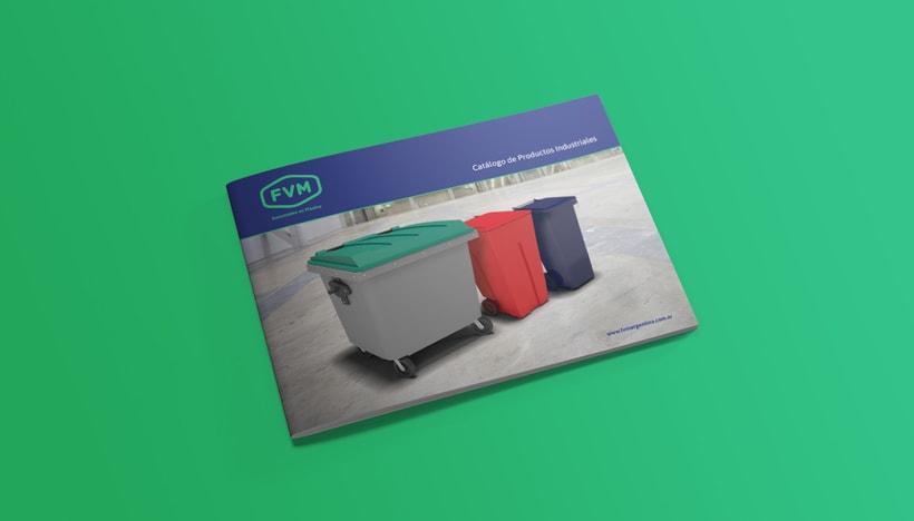 Rediseño de imagen para FVM una empresa dedicada a la fabricación y comercialización de productos plásticos para la industria, el campo, el comercio, municipios, comunas y empresas. 5