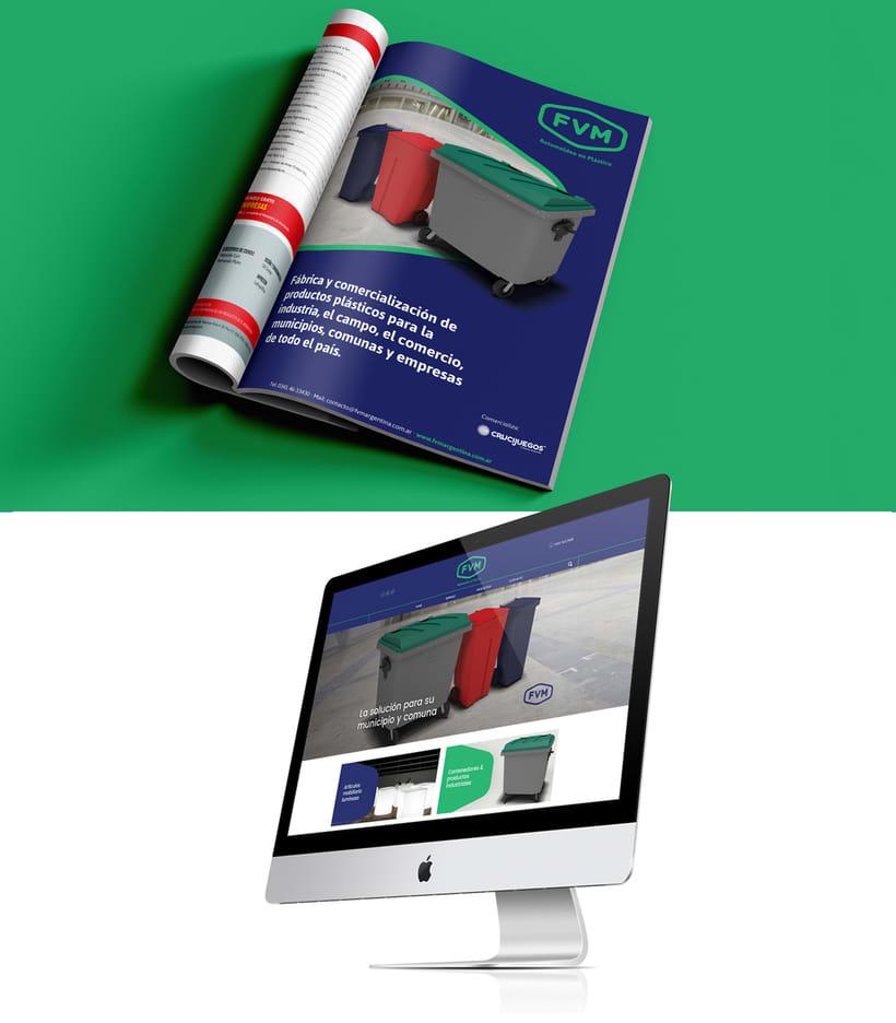 Rediseño de imagen para FVM una empresa dedicada a la fabricación y comercialización de productos plásticos para la industria, el campo, el comercio, municipios, comunas y empresas. 7