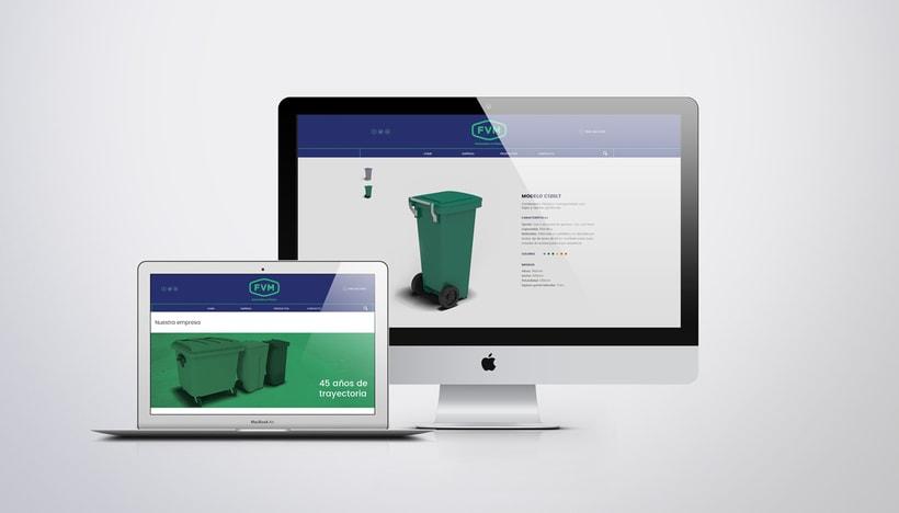 Rediseño de imagen para FVM una empresa dedicada a la fabricación y comercialización de productos plásticos para la industria, el campo, el comercio, municipios, comunas y empresas. 8