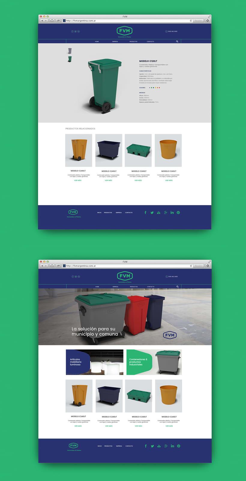 Rediseño de imagen para FVM una empresa dedicada a la fabricación y comercialización de productos plásticos para la industria, el campo, el comercio, municipios, comunas y empresas. 9