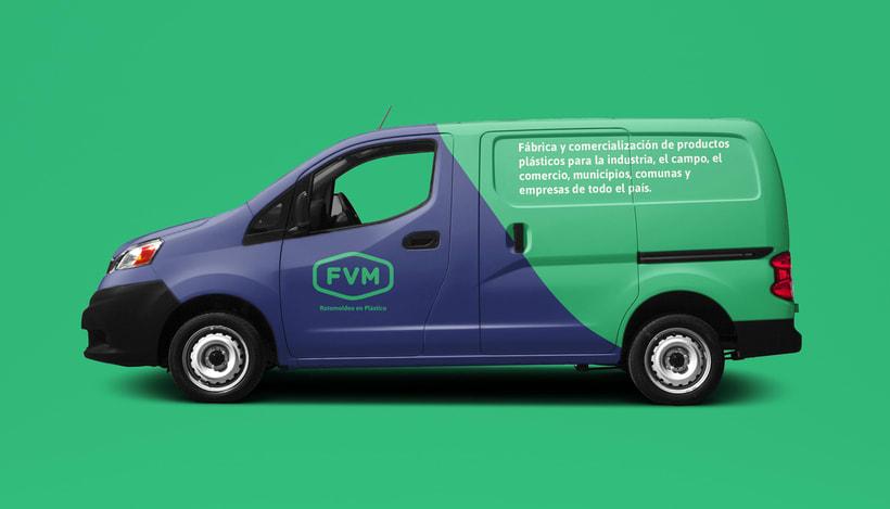 Rediseño de imagen para FVM una empresa dedicada a la fabricación y comercialización de productos plásticos para la industria, el campo, el comercio, municipios, comunas y empresas. 10
