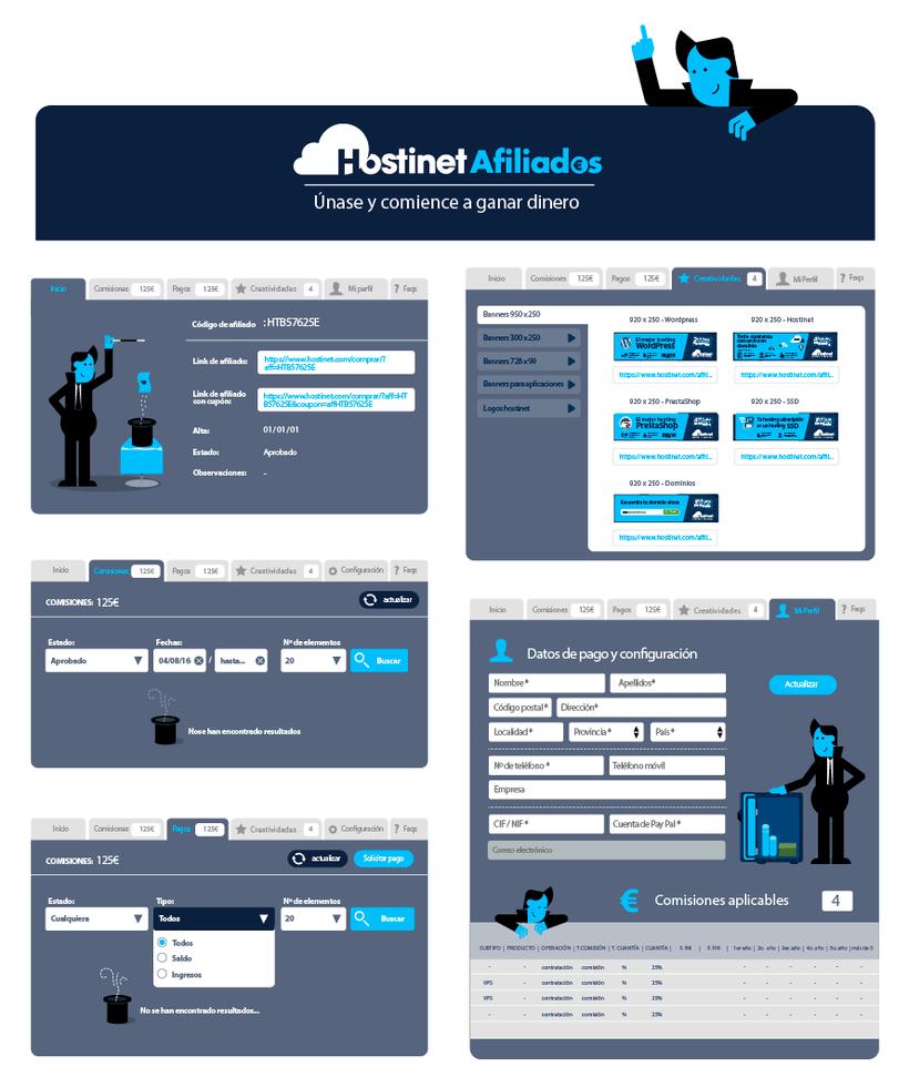 Hostinet.com ( Diseño UX y elementos gráficos) 4