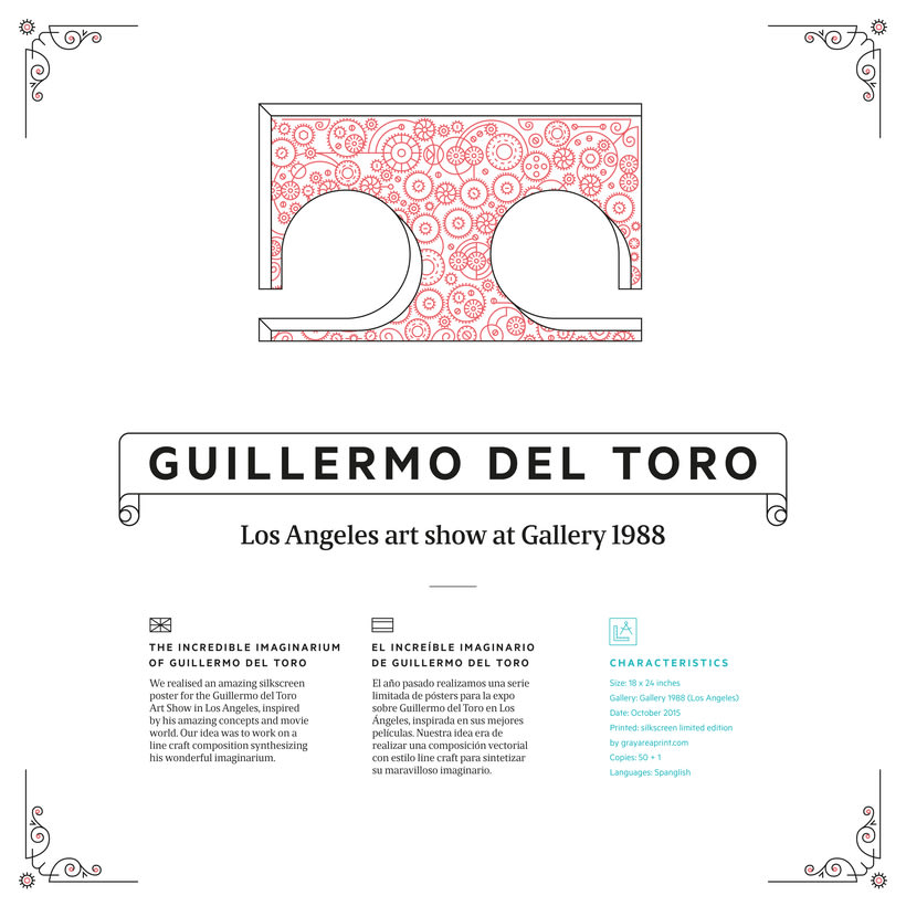 Póster Guillermo del Toro Art Show Los Angeles -1