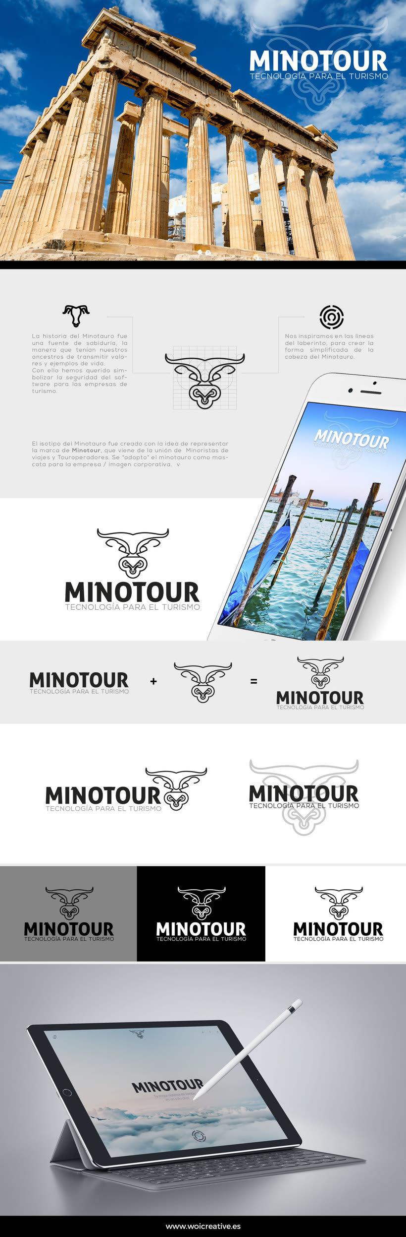 Diseño de Imagen Corporativa - Minotour -1
