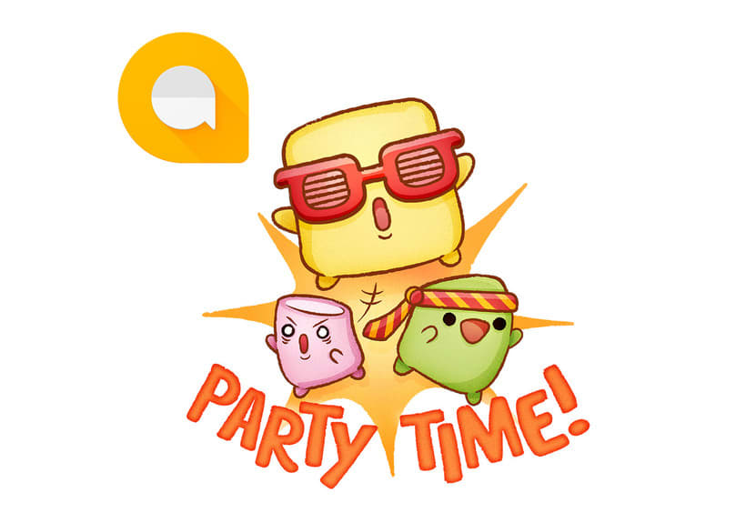 Google Allo Sticker Set - Party Marshmallows 0