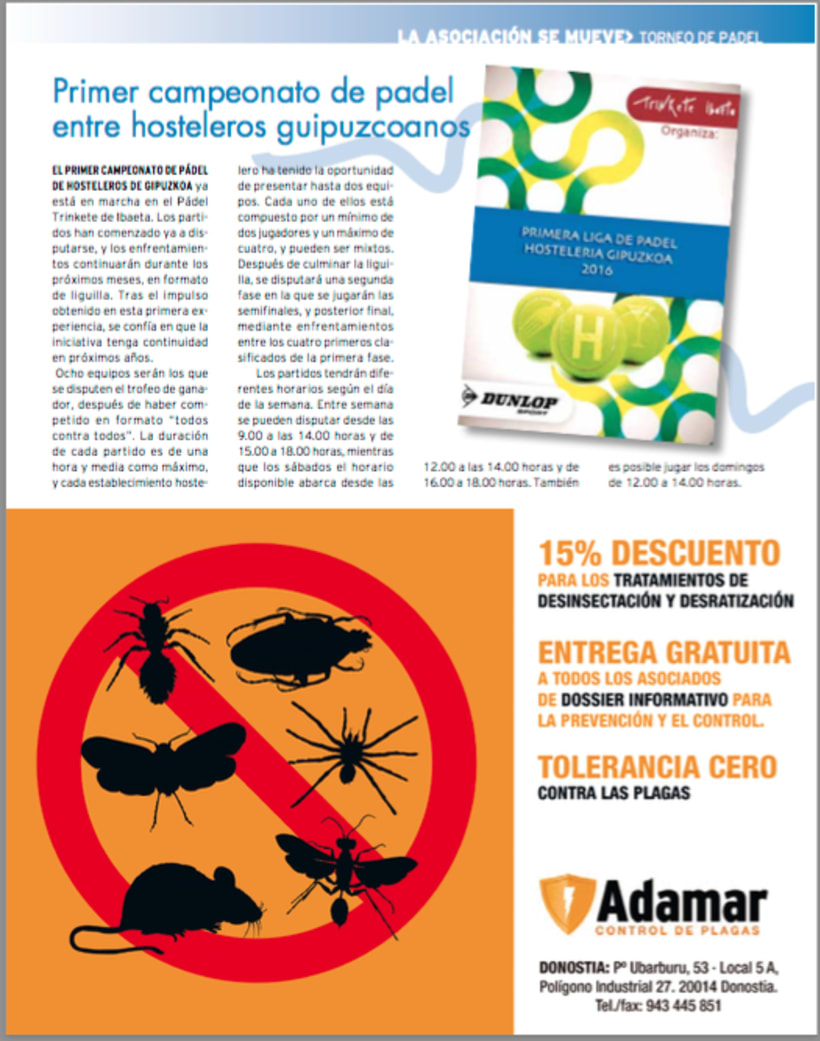 Revista Hosteleros de Guipúzcoa, número 36 primavera 2016 0