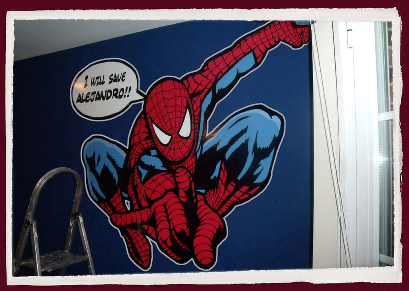 Spiderman. Mural habitación infantil. Aerosol+Acrilico. 3