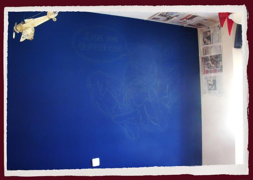 Spiderman. Mural habitación infantil. Aerosol+Acrilico. 0