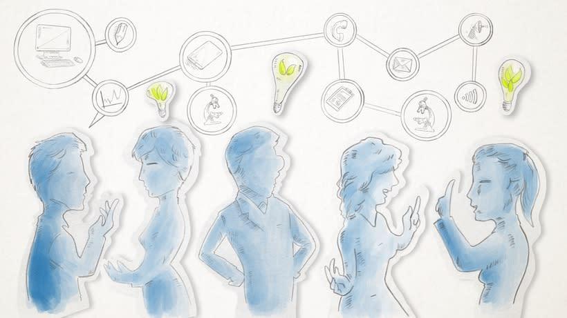 Ilustraciones para vídeo corporativo Ashoka 5