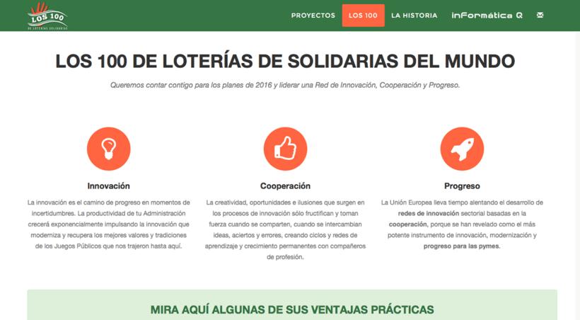 Los 100 de Loterías Solidarias 2